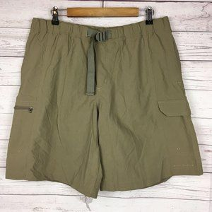 Columbia Mens Nylon Cargo Shorts L ins 9 Belted